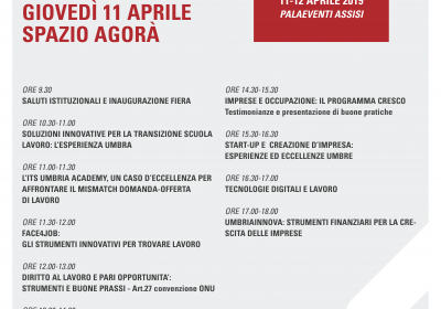 Programma spazio Agorà 11 Aprile 2019