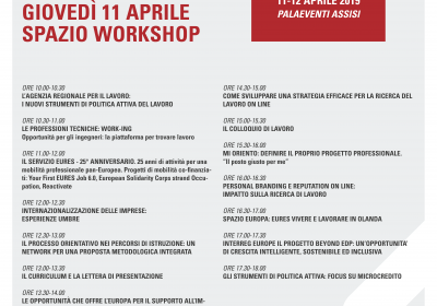 Programma spazio Workshop 11 aprile 2019