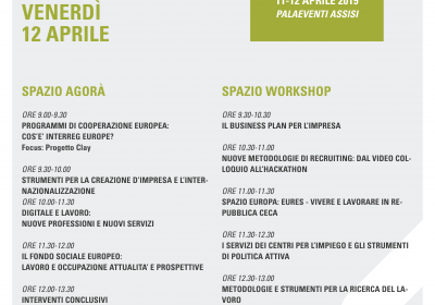 Programma spazio Agorà e Workshop 12 aprile
