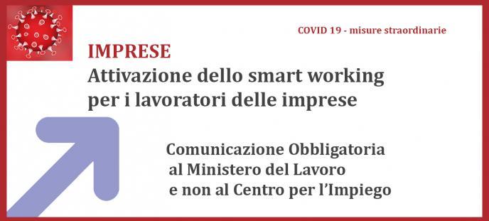 Imprese -Comunicazioni obbligatorie smart working al Ministero del Lavoro