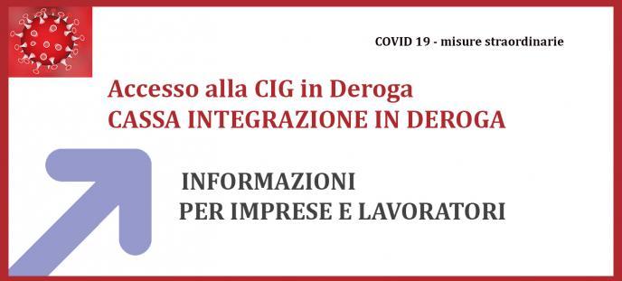 Informazioni per accesso alla CIG in Deroga per imprese e dipendenti