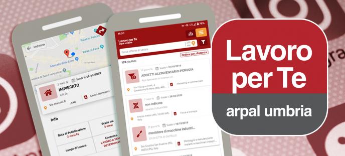La app  Lavoro per Te - ARPAL Umbria