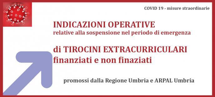 Indicazioni operative per sospensione tirocini extracurriculari  finanziati e non finanziati