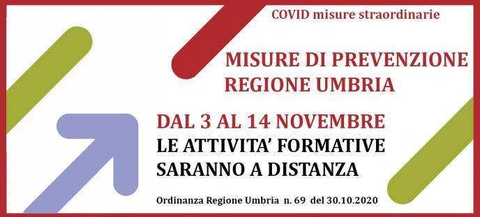 Attivita' formative a distanza dal 3 al 14 novembre 2020