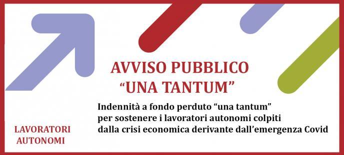 Avviso pubblico Una Tantum Autonomi
