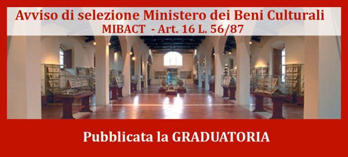 Avviso graduatoria MIBACT