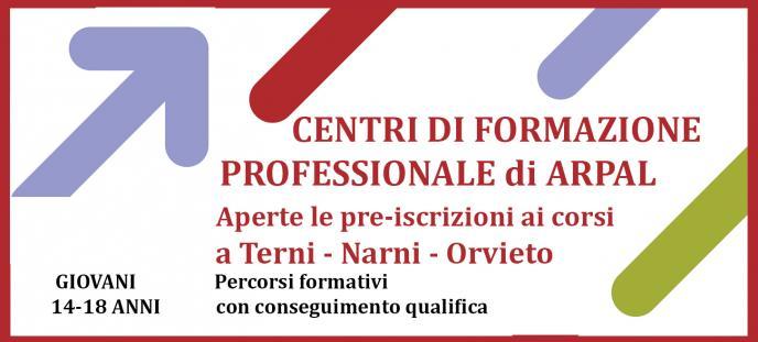 Apertura pre-iscrizioni ai corsi dei Centri di Formazione Professionale di ARPAL Umbria